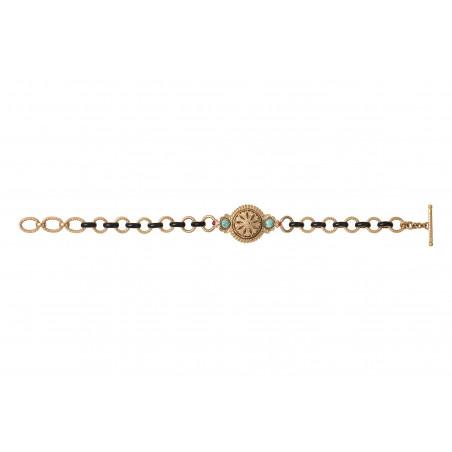 Bracelet chaîne baroque émail et cristaux Prestige I turquoise 86010
