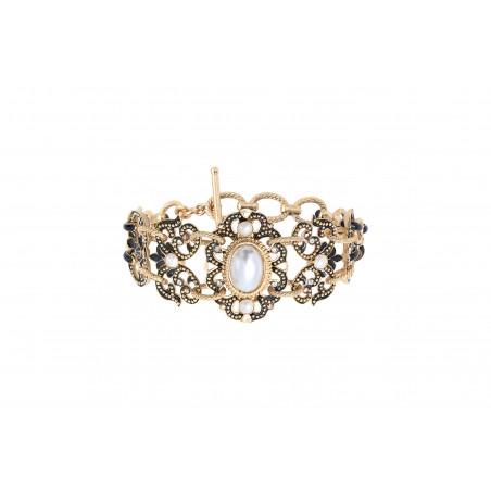 Bracelet double rang sophistiqué cristaux Prestige I noir