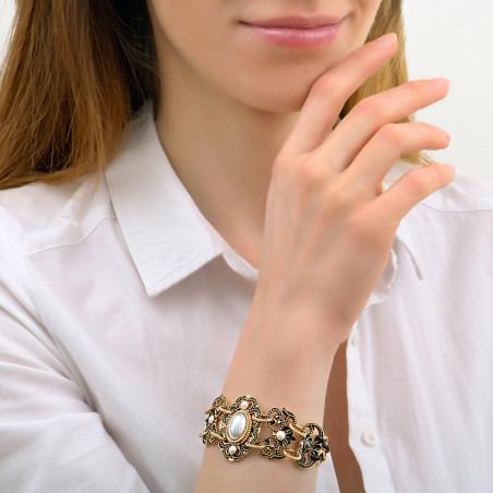Sophisticated Prestige crystal double row bracelet   black86018