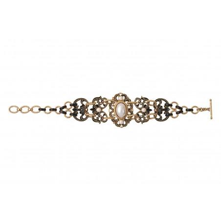 Bracelet double rang sophistiqué cristaux Prestige I noir86019