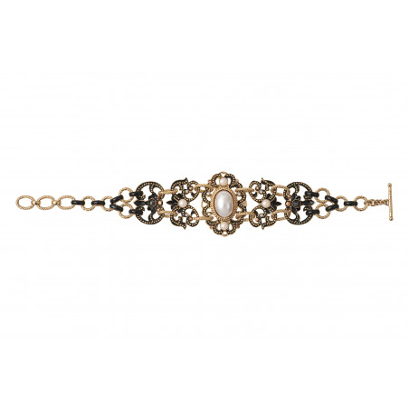 Sophisticated Prestige crystal double row bracelet   black86019