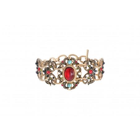 Bracelet double rang glamour cristaux Prestige I rouge