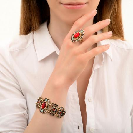 Bracelet double rang glamour cristaux Prestige I rouge86021
