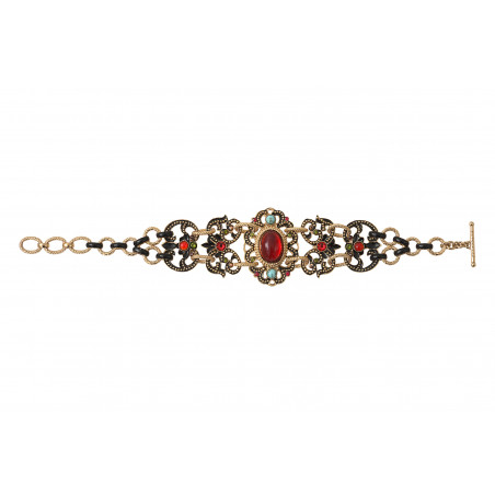 Bracelet double rang glamour cristaux Prestige I rouge86022