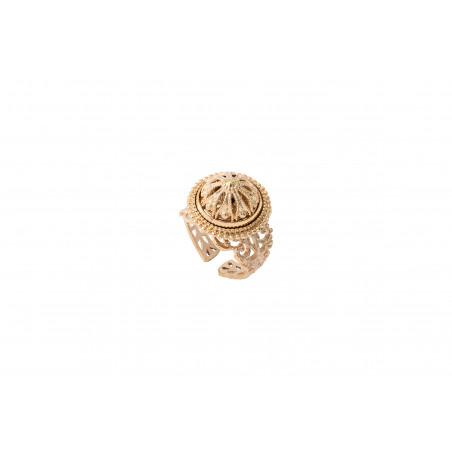 Bague ajustable romantique métal doré à l'or fin I doré