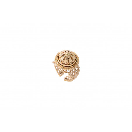 Romantic fine gold-plated metal adjustable ring   golden
