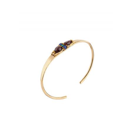 Bracelet jonc raffiné turquoise et grenat | Multicolore